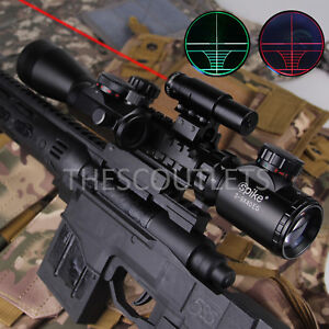 3-9x40-AO-Illuminated-Tactical-Rifle-Scope-w-Red-Laser-Holographic-Mil-Dot-Sight