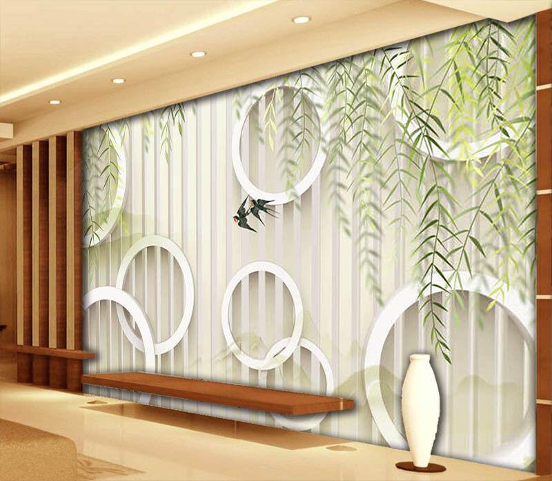 Fashionable Leaves 3D Full Wall Mural Photo Wallpaper Printing Printing Printing Home Kids Decor a49d16