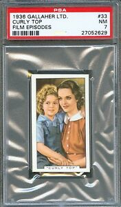 1936 Film Episodes Card #33 SHIRLEY TEMPLE Rochelle HUDSON Curley Top PSA 7