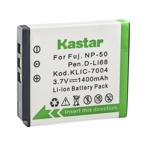 Kastar NP-50 Cargador de Batería para Fujifilm FinePix XP160 XP170 XP200 BC-50 BC-45W