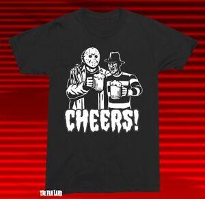 New  Freddy Jason Cheers Friday the 13th Nightmare on Elm Street Men's T-Shirt