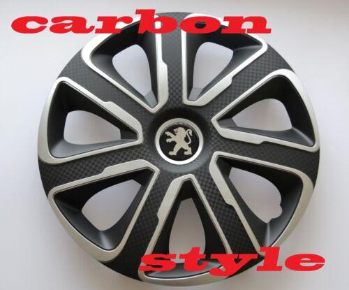 "Covers 14/"" Peugeot 106,107,206,306,Partner.. Wheel Trims Hub Caps,Quantity 4"