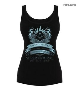 Official-Skinny-Black-Vest-Top-Supernatural-Winchester-039-Join-The-Hunt-039-All-Sizes