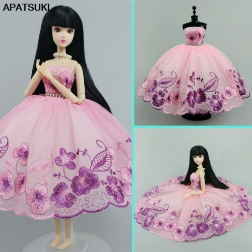 """Details about  /Pink Purple Floral Fashion Ballet Dress For 11.5/"""" Doll Outfits 1//6 Dolls Clothes"""