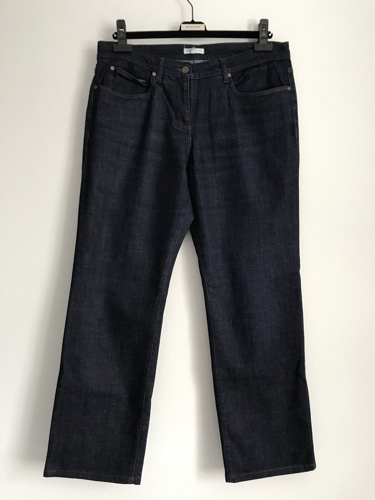 Eileen Fisher  Organic Cotton Elastane bluee Stretchy Women's Jeans Size 12