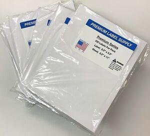 "1000 Premium 8.5"" X 5.5"" Half Sheet Self Adhesive Shipping Labels -PLS Brand-"