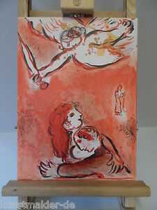 ORIGINAL-Marc-CHAGALL-Lithographie-231-Das-Gesicht-Israels-Inkl-Expertise