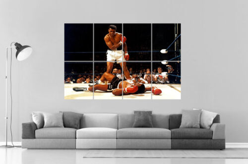 MOHAMMED ALI MUHAMMED BOXING Wall Art Poster Great format A0 Wide Print