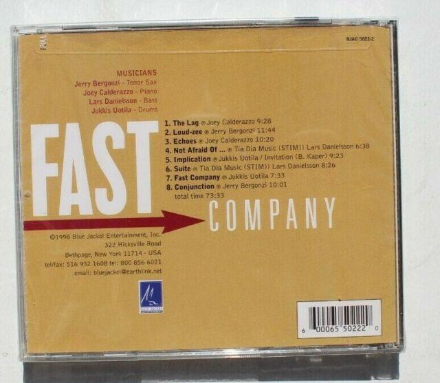 Fast Company by Jerry Bergonzi (CD, Apr-1998, Blue Jackel)
