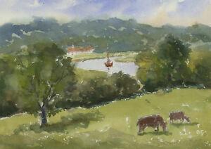 John-A-Case-Contemporary-Watercolour-Rural-River-Scene