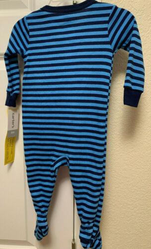 Boys Carter/'s One Piece Snug Fit Cotton Pajama Firetruck Blue Red 6M 2T 4T