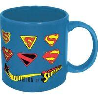 16021 Superman Evolution Through The Years Logo Mug 14oz Coffee Tea Cup