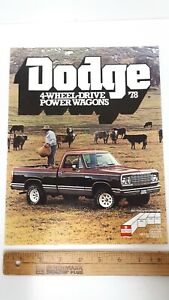 1978-DODGE-4WD-Power-Wagon-Original-Color-Sales-Folder-Excellent-Condition-US