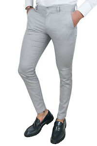 pantalon homme gris clair