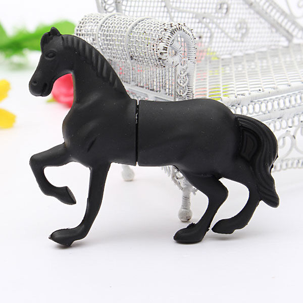 32GB Black Horse Style USB 2.0 Flash Memory Thumb Stick Fashion Storage U Disk