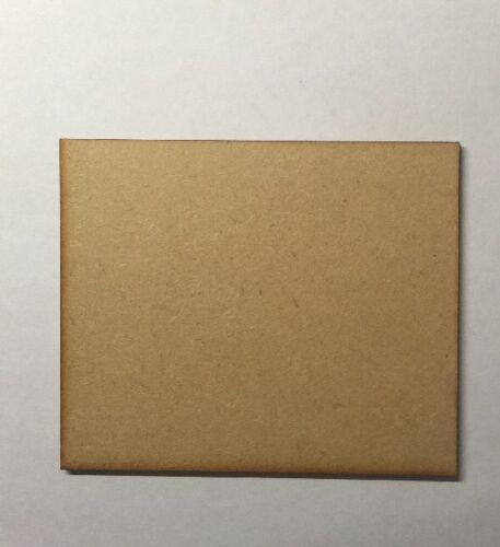 En bois Rectangle bases découpe laser de 3 mm MDF 120 mm x 100 mm Wargames Bolt Action