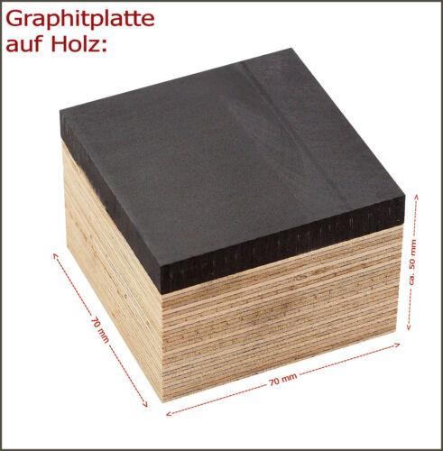 für Perlenmacher // Glaskünstler auf Holzblock Graphitplatte 70 x 70 x 10 mm