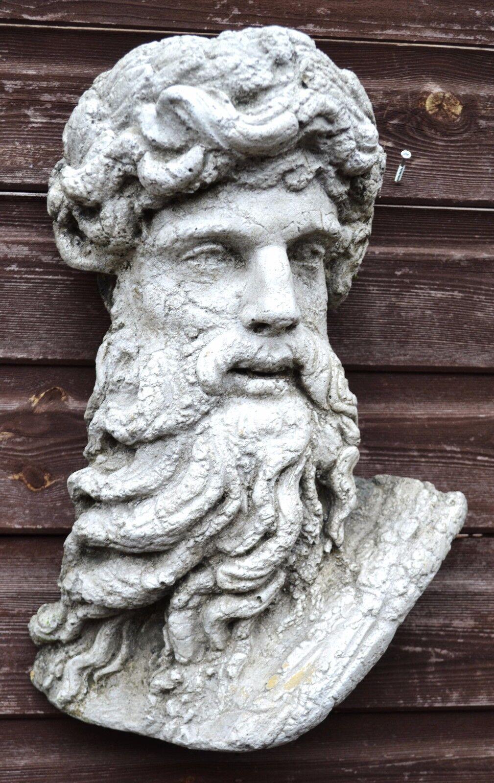 Hércules romano clásica Placa de parojo Busto fragmento ornamento de piedra 43cm 17  H
