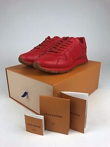 1ea424f8d553 Louis Vuitton x Supreme Run Away Sneaker Shoes - RED Brand New ...