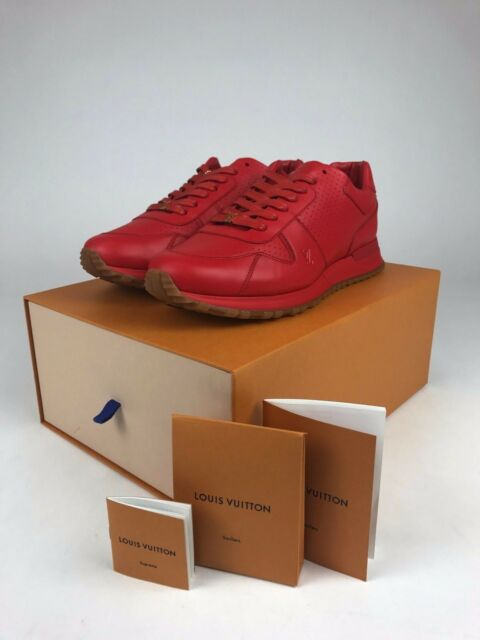 0caee8a2d99 Louis Vuitton x Supreme Run Away Sneaker Shoes - RED Brand New - Size US 9