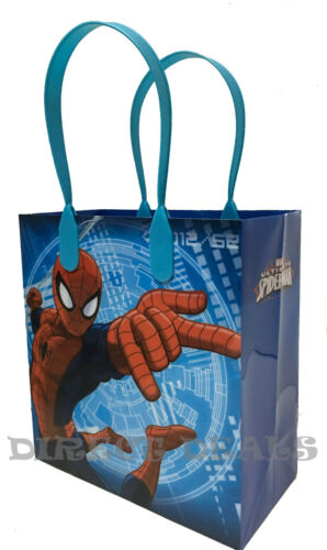24 pc Marvel Spiderman Party Favors Gift Toy Bags Birthday Candy Treat Loot Sack