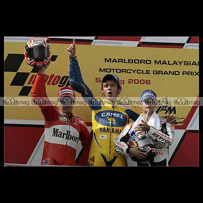 #phm.07106 Photo Loris Capirossi, Valentino Rossi, Dani Pedrosa Motogp 2006 Moto Wees Nieuw In Ontwerp