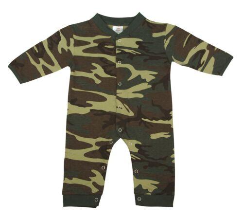 BABY TODDLER INFANT LONG SLEEVE /& LEG WOODLAND CAMO ONESY