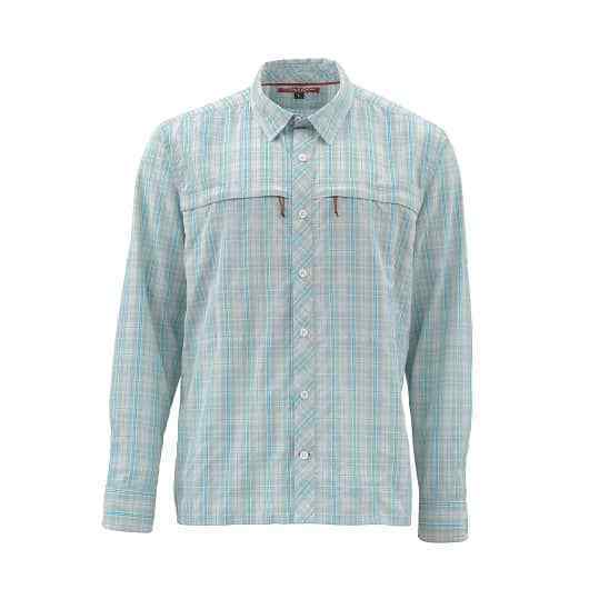 SALE Simms Stone Cold LS Shirt Celedon Plaid XXL NEW FREE SHIPPING