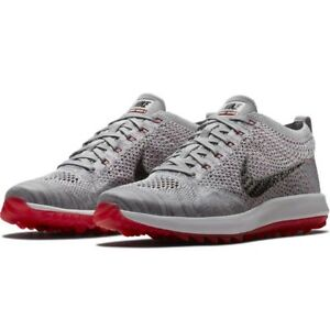 e9e5419643b1 NEW Nike Flyknit Racer G Golf Shoes SIZE 10.5 - 909756-002 Gray ...