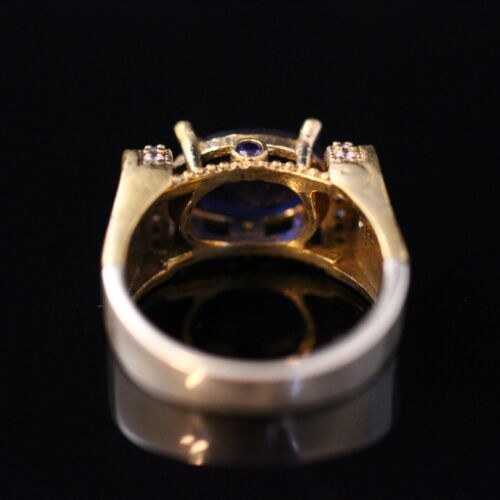 925 Sterling Silver Handmade Authentic Turkish Sapphire Ladies Ring Size 6-10