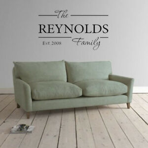 PERSONALIZED-Family-Established-Name-Wall-art-decor-vinyl-sticker-Decal