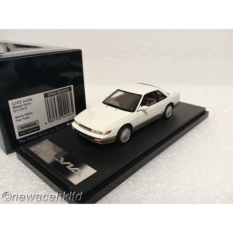 el mas de moda Nissan Silvia Q 's 's 's (S13) marca de dos tonos blancoo cálido 43 1 43  PM4369BW  gran descuento