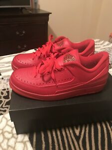 the best attitude 1f41c fb8fe Details about Air Jordan Retro 2 Low Gym Red Size 9
