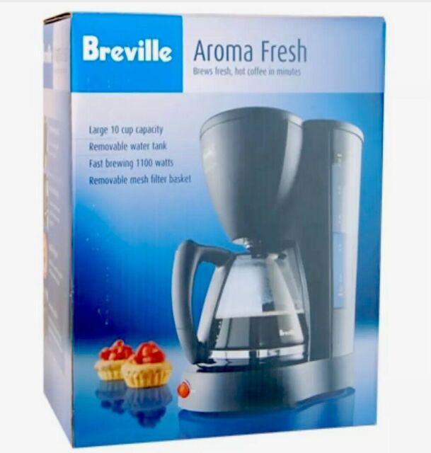 BREVILLE AROMA FRESH COFFEE MACHINE. NEW. WILL BE RE-BOXED DUE TO CARTON DAMAGE.