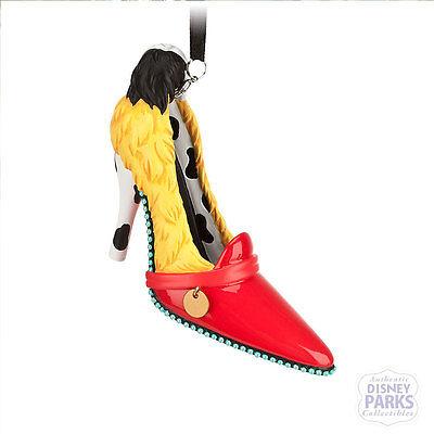 Disney Parks Authentic Cruella De Ville Runway Shoe Ornament NEW Christmas