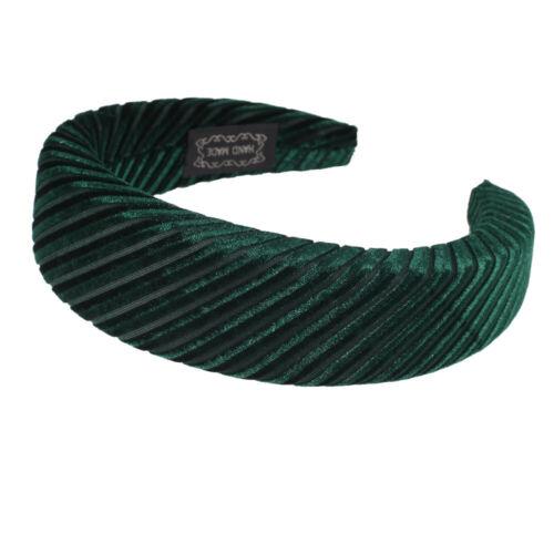 Femmes Rembourré Velours Bandeau Hairband doux cheveux bandes Hoop accessoires Couronne