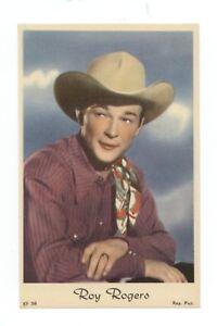 1950s-Dutch-Gum-ROY-ROGERS-Postcard-Film-Cinema-Card