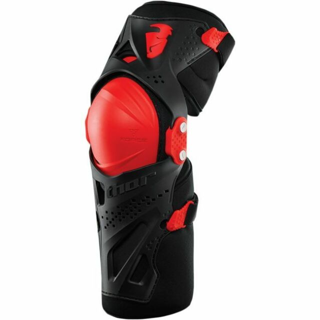 Protezione Ginocchiera Thor Force XP Knee Nera Black Red new 2016 TG L/XL