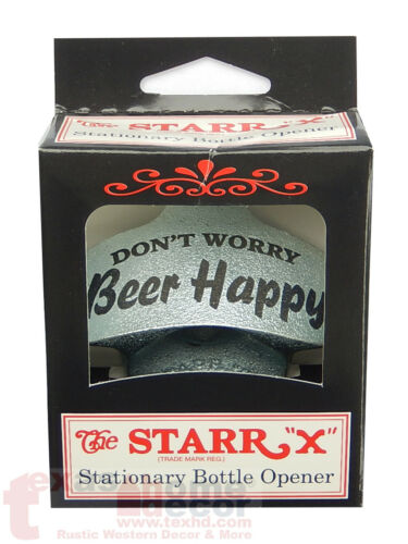 BEER HAPPY Starr X Wall Mount Stationary Beer Bottle Opener DON/'T WORRY NEW!!