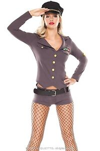 Womens-Military-General-Costume-Army-Adult-Sexy-Fancy-Dress-S-M-L-Halloween-NEW