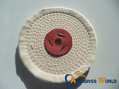 "6""X1/2""(150X12.5MM) Close Spiral Sewn Cloth Buffing Wheel for polishing metal"