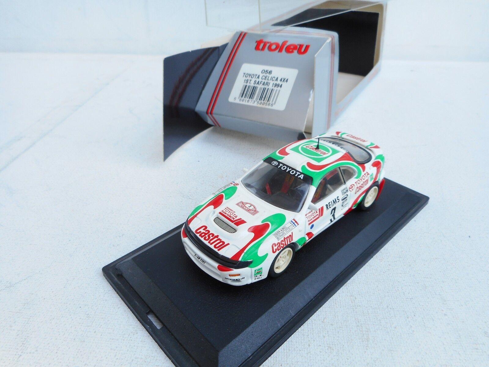 Trofeu 1 43 - Toyota Celica 4X4 Castrol Winner Rallye Monte Carlo 1993 NM BOX