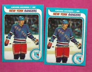 2-X-1979-80-TOPPS-240-RANGERS-ANDERS-HEDBERG-NRMT-MT-CARD-INV-C0438