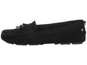 0bc8885578d Details about NEW Women's UGG Australia RONI PERF Moccasins, Black Suede,  #1004847, MSRP $140