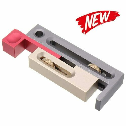 ALUMINUM ALLOY TABLE SAW SLOT ADJUSTER MORTISE AND TENON TOOL WOODWORKING MEAS