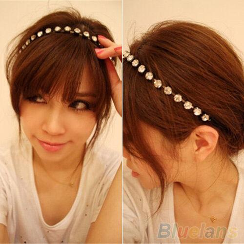 PRETTY WOMEN METAL GLITTER RHINESTONE HEAD CHAIN HEADBAND HAIR BAND HEAD JEWELRY
