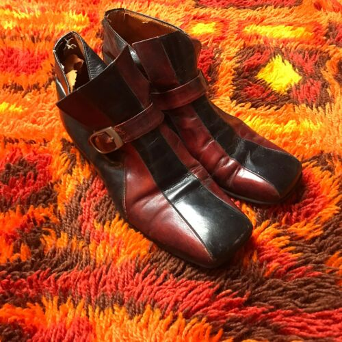 Vintage 60s Shoes  70'S MENS  PLATFORM GLAM ROCK S