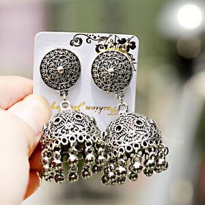 Antique-Indian-Jhumki-Jhumka-Dangle-Earrings-Ethnic-Tribal-Middle-East-Bell-Gift