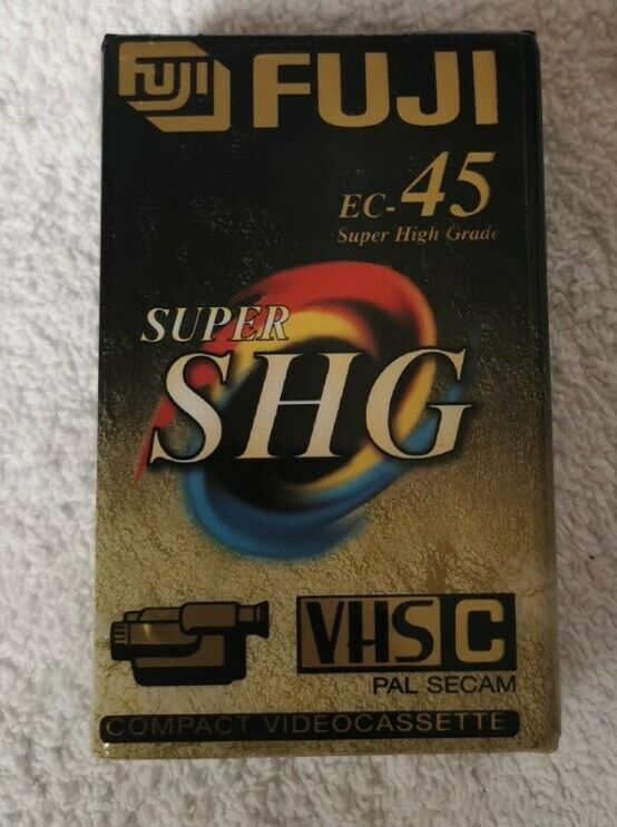 2 Pack new and sealed - Fuji EC- 45 Super SHG Compact Video Cassette Tapes VHS-C