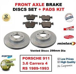 NUOVA PORSCHE 911 964 3.6 CARRERA ORIGINALI Mintex Pastiglie Freno Anteriore Set